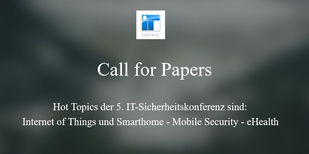 Call for Papers - 5. Stralsunder IT-Sicherheitskonferenz
